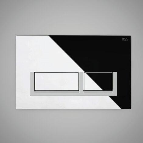 "main image of ""RAK Ecofix Polished Rectangular Dual Flush Plates - Matt Chrome"""