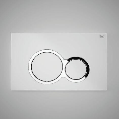 RAK Ecofix Polished Round Dual Flush Plates - Matt Chrome