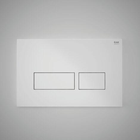 "main image of ""RAK Ecofix Rectangular Dual Flush Plates - White"""
