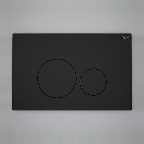 "main image of ""RAK Ecofix Round Dual Flush Plates - Matt Black"""