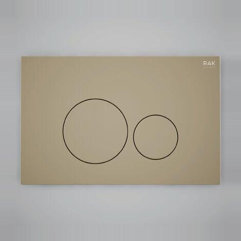 "main image of ""RAK Ecofix Round Dual Flush Plates - Matt Cappuccino"""