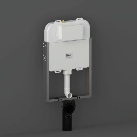 RAK Ecofix Slimline Hidden Cistern 80mm with Metal Frame for Wall Hung WC Unit