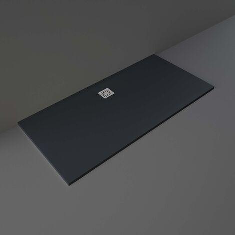 RAK Feeling Bathtub Replacement Rectangular Shower Tray 1700mm x 800mm Solid Black