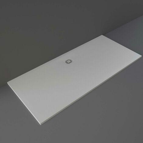 RAK Feeling Bathtub Replacement Rectangular Shower Tray 1800mm x 800mm Solid Grey