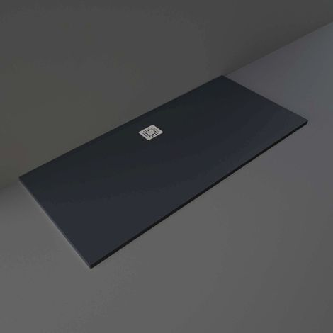 RAK Feeling Black 1800mm x 800mm Rectangular Bathtub Replacement Shower Tray - RFBR080180S504