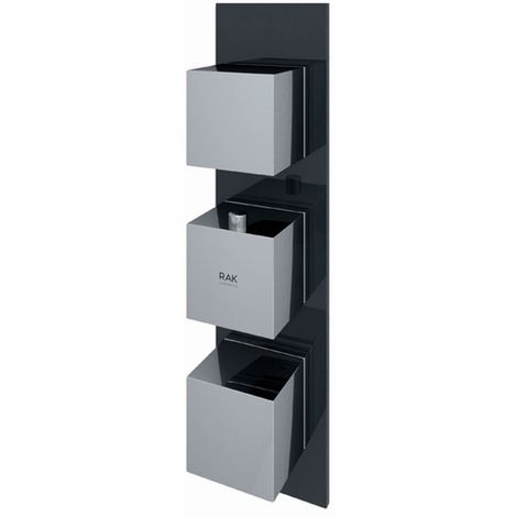 RAK Feeling Black Square Concealed Thermostatic Dual Control Shower Valve - RAKFSV2504S