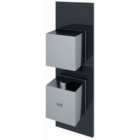 RAK Feeling Black Square Concealed Thermostatic Single Control Shower Valve - RAKFSV1504S
