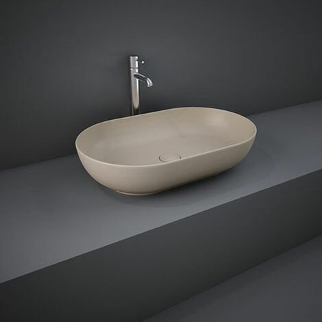 RAK Feeling Oval Countertop Wash Basin 550mm Wide - Matt Cappuccino