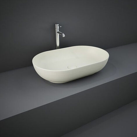 RAK Feeling Oval Countertop Wash Basin 550mm Wide - Matt Greige