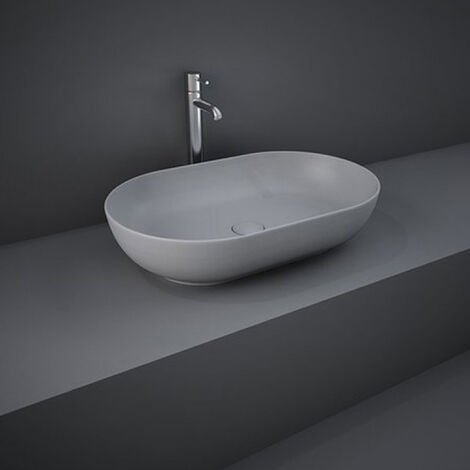 RAK Feeling Oval Countertop Wash Basin 550mm Wide - Matt Grey