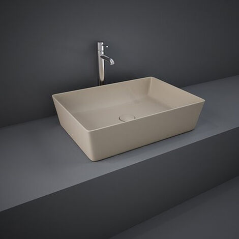 RAK Feeling Rectangular Countertop Wash Basin 500mm Wide - Matt Cappuccino
