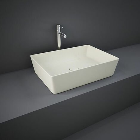 RAK Feeling Rectangular Countertop Wash Basin 500mm Wide - Matt Greige
