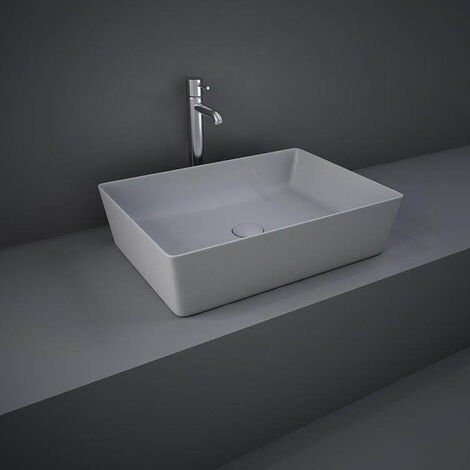 RAK Feeling Rectangular Countertop Wash Basin 500mm Wide - Matt Grey