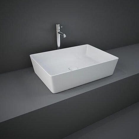 RAK Feeling Rectangular Countertop Wash Basin 500mm Wide - Matt White