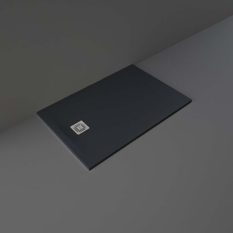 RAK Feeling Rectangular Shower Tray 1200mm x 800mm Solid Black
