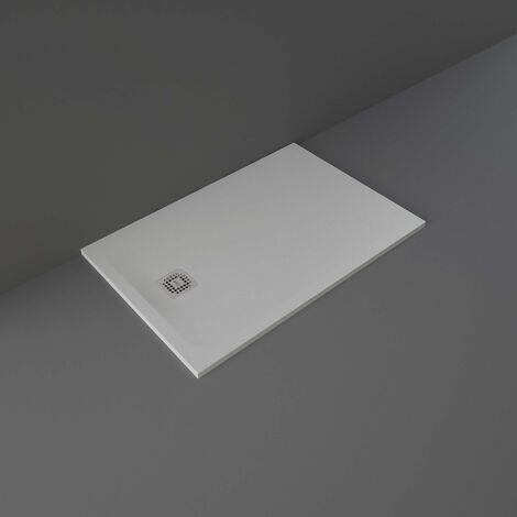 RAK Feeling Rectangular Shower Tray 1200mm x 800mm Solid Grey