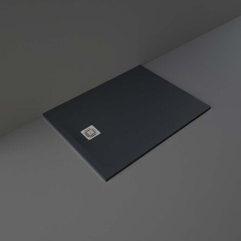 RAK Feeling Rectangular Shower Tray 1200mm x 900mm Solid Black