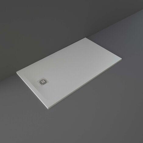 RAK Feeling Rectangular Shower Tray 1400mm x 800mm Solid Grey