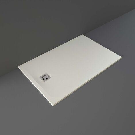 RAK Feeling Rectangular Shower Tray 1400mm x 900mm Solid Greige