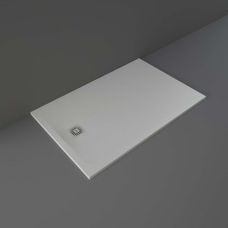 RAK Feeling Rectangular Shower Tray 1400mm x 900mm Solid Grey