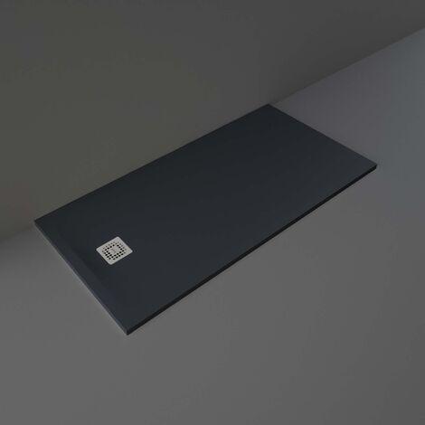 RAK Feeling Rectangular Shower Tray 1600mm x 800mm Solid Black