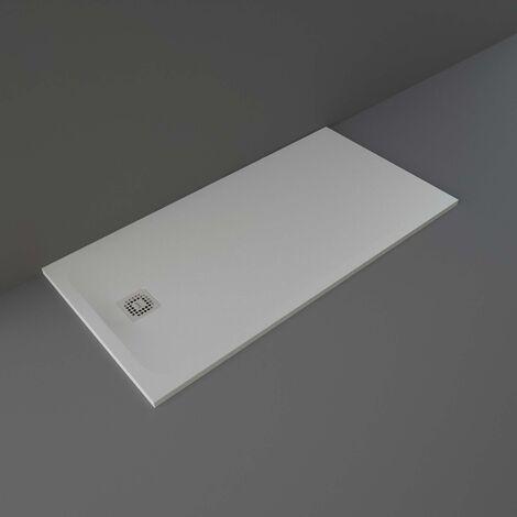 RAK Feeling Rectangular Shower Tray 1600mm x 800mm Solid Grey