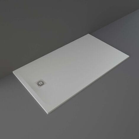 RAK Feeling Rectangular Shower Tray 1600mm x 900mm Solid Grey