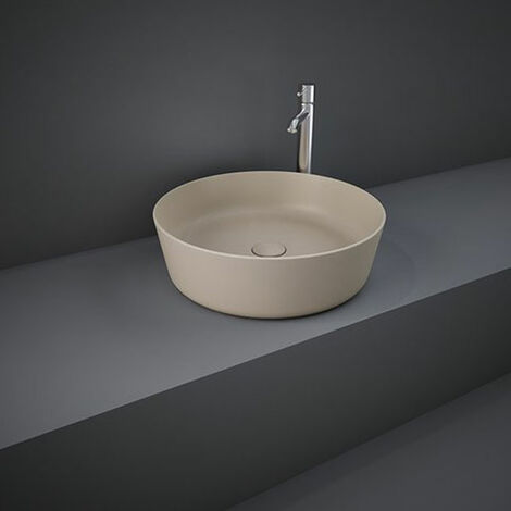 RAK Feeling Round Countertop Wash Basin 420mm Wide - Matt Cappuccino