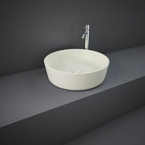 RAK Feeling Round Countertop Wash Basin 420mm Wide - Matt Greige