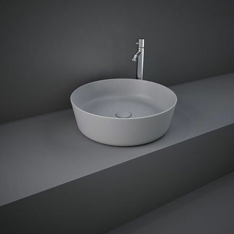 RAK Feeling Round Countertop Wash Basin 420mm Wide - Matt Grey