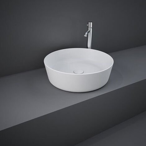 RAK Feeling Round Countertop Wash Basin 420mm Wide - Matt White