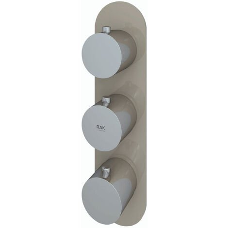 """main image of """"RAK Feeling Thermostatic Round Dual Outlet Concealed Shower Valve - Cappuccino"""""""