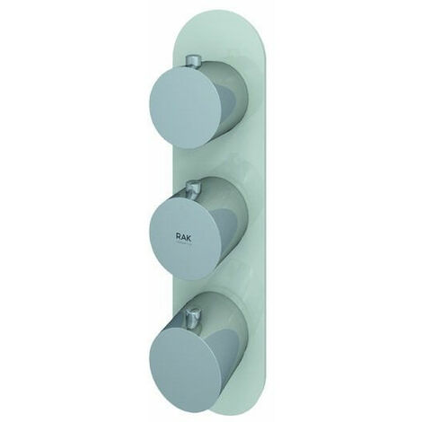 """main image of """"RAK Feeling Thermostatic Round Dual Outlet Concealed Shower Valve - Greige"""""""