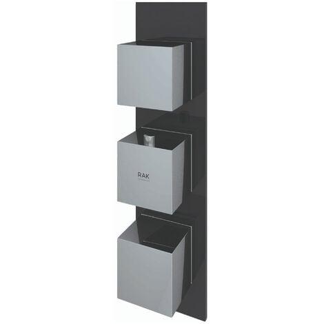 RAK Feeling Thermostatic Square Dual Outlet Concealed Shower Valve - Black