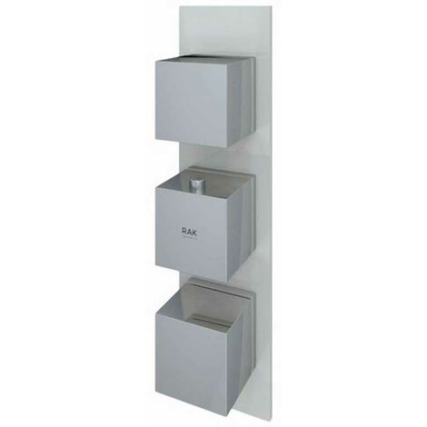 """main image of """"RAK Feeling Thermostatic Square Dual Outlet Concealed Shower Valve - Greige"""""""