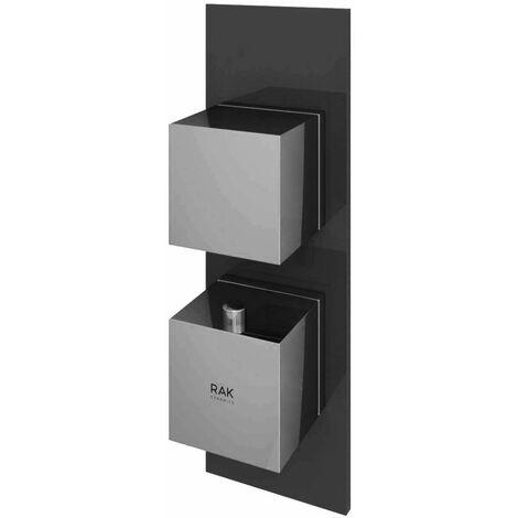 RAK Feeling Thermostatic Square Single Outlet Concealed Shower Valve - Black