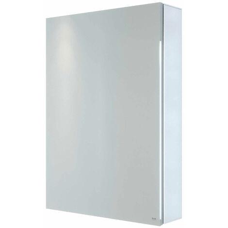 RAK Gemini 1-Door Mirrored Bathroom Cabinet 700mm H x 500mm W - Stainless Steel