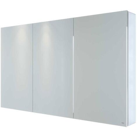 RAK Gemini 3-Door Mirrored Bathroom Cabinet 700mm H x 1200mm W - Stainless Steel