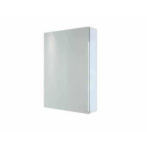 RAK Gemini Bathroom Mirror Cabinet Cupboard Single Door Aluminium 700 x 500mm