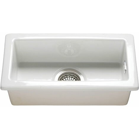 RAK Gourmet 7 Ceramic Belfast Kitchen Sink 1.0 Bowl 475mm L x 250mm W - White