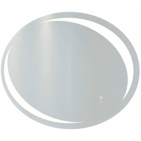 RAK Hades Oval LED Mirror with Switch and Demister Pad 600mm H x 900mm W Illuminated