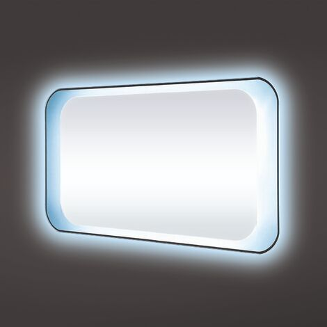 RAK Harmony LED Mirrors with Switch and Demister Pad 500mm H x 1200mm W