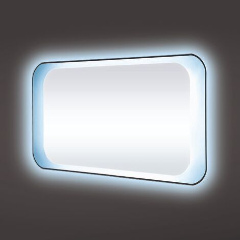 RAK Harmony LED Mirrors with Switch and Demister Pad 600mm H x 800mm W