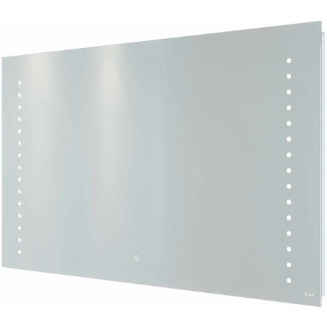 RAK Hestia LED Landscape Mirror with Switch and Demister Pad 600mm H x 1000mm W Illuminated