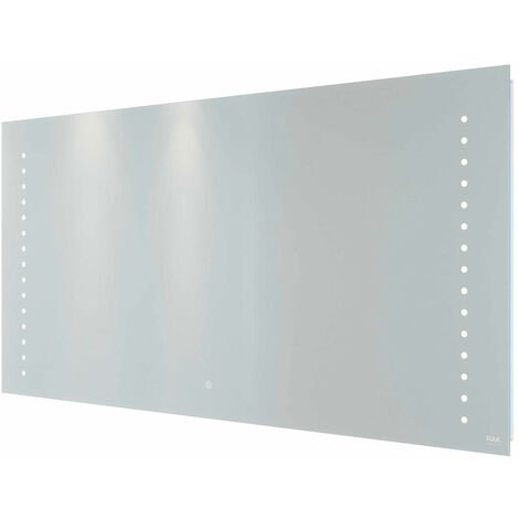 RAK Hestia LED Landscape Mirror with Switch and Demister Pad 600mm H x 1200mm W Illuminated
