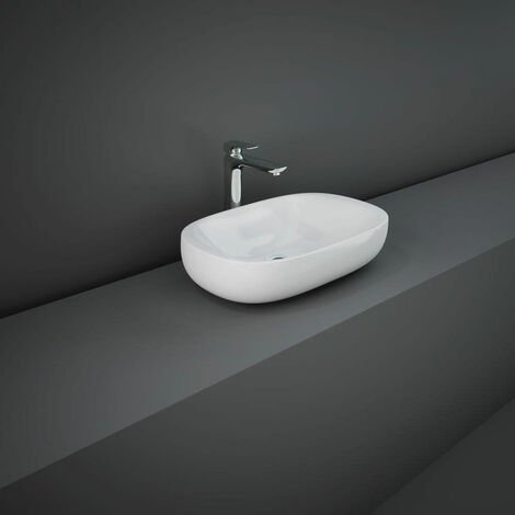 RAK Illusion Countertop Wash Basin 600mm Wide - Alpine White