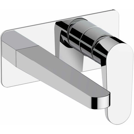 RAK Ischia Wall Mounted Basin Mixer Tap with Back Plate - Chrome