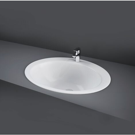 RAK Jessica Inset Countertop Basin 530mm Wide - 1 Tap Hole (inc Overflow)