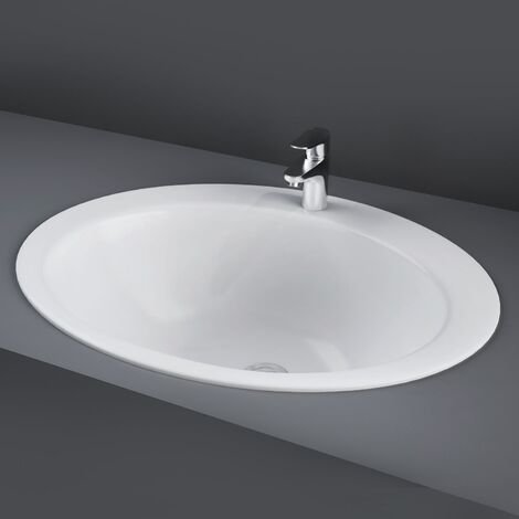 RAK Jessica Inset Countertop Basin 530mm Wide - 1 Tap Hole (No Overflow)