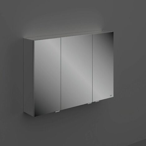 RAK Joy Unlit Rectangular Bathroom Wall Mirror Door Shelves Cabinet 682 x 1000mm